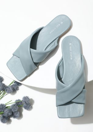 FLAT FOR YOU BLUE FLAT SANDALS