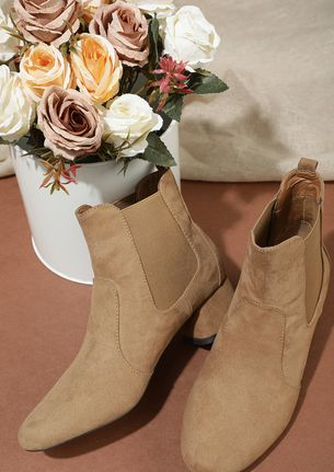 KEEPING IT REAL LOW-KEY KHAKI ANKLE BOOTS