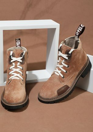 UP FOR A TREK BROWN ANKLE BOOTS