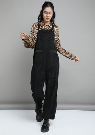 ALL DONE AND DUSTED BLACK DUNGAREE