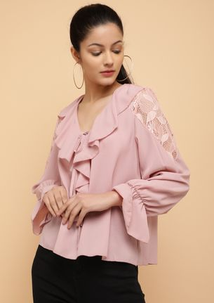 HEY PRETTY ONE PINK BLOUSE