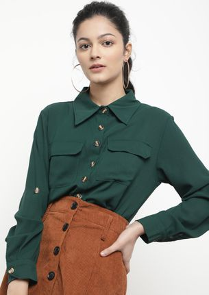 ALWAYS ON TIME GREEN SHIRT