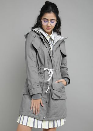 AGAINST THE WINDS GREY PARKA