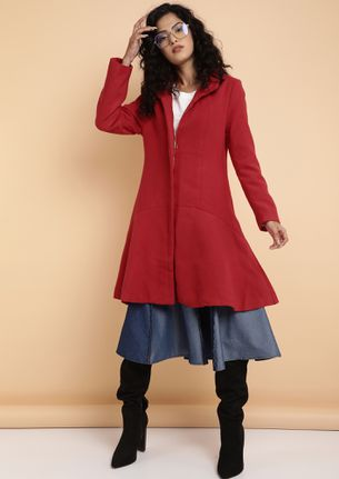 POWER PLAY IN RED OVERCOAT