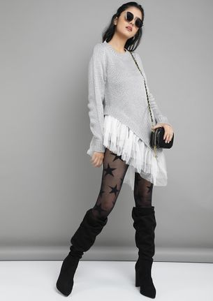 TOO PRETTY IN TULLE GREY JUMPER
