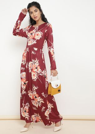 ALL MY ROSES RED MAXI DRESS