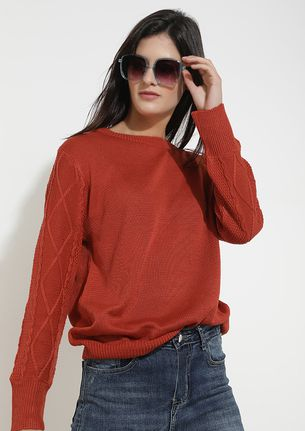 NO PASSING FANCY BRICK RED JUMPER