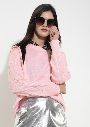 NO PASSING FANCY BABY PINK JUMPER