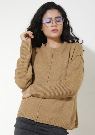 AGAINST THE COLD WIND KHAKI JUMPER
