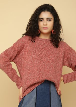 AGAINST THE COLD WIND BLUSH RED JUMPER