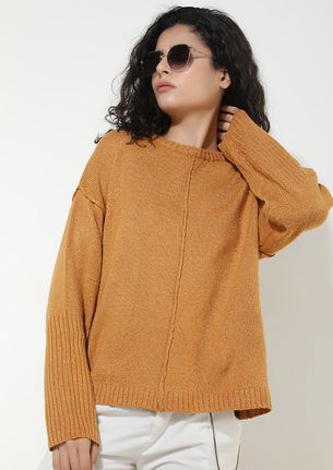 AGAINST THE COLD WIND MUSTARD JUMPER