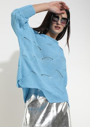CLOUDS OF THOUGHTS BLUE JUMPER