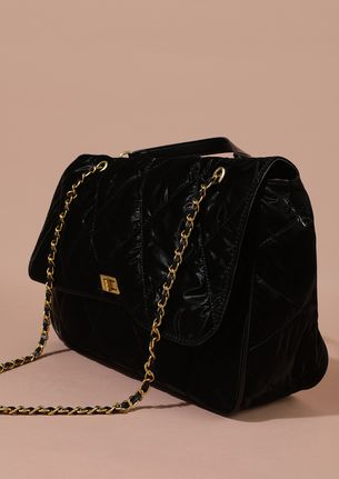 HIGH ATTITUDE QUILTED BLACK TRAVEL BAG