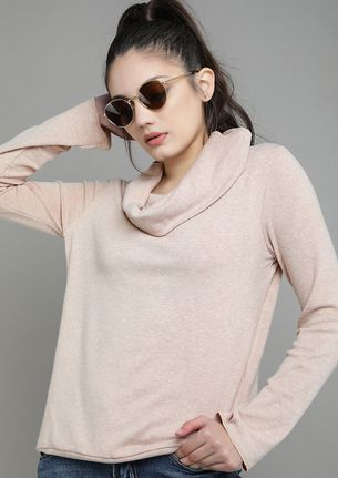 A DIFFERENT COSY APRICOT TOP