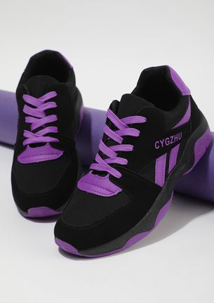 COLOR IN EACH STEP PURPLE TRAINERS