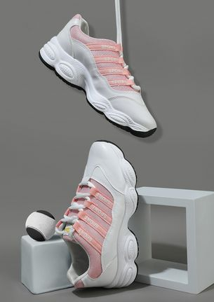 Athleisure obsession pink sneakers