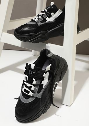 BRING YOUR BEST BLACK TRAINERS