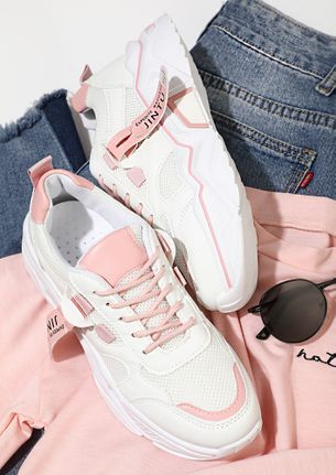 STEP INTO COMFORT PINK TRAINERS