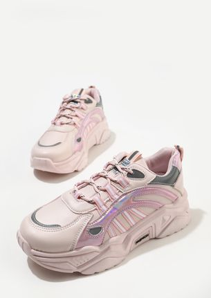 IT'S THE TIME TO GLIMMER PINK TRAINERS