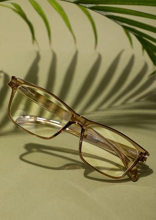 Geek And Chic Tea Brown Square Sunglasses