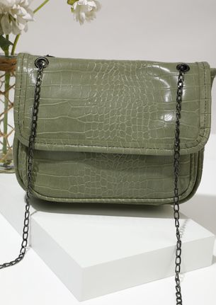 POUCH IT UP GREEN SLING BAG
