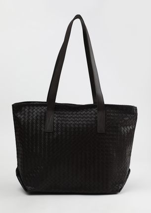 CARVED TO PERFECTION BROWN TOTE BAG