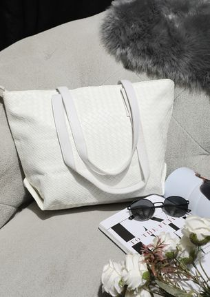 CARVED TO PERFECTION WHITE TOTE BAG