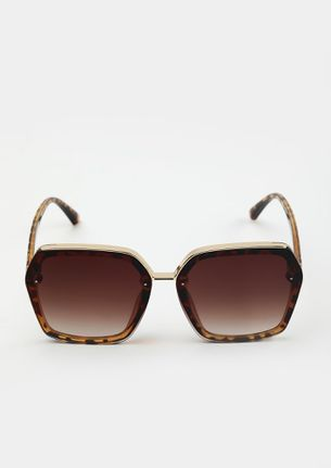 RULERS OF THE PAST BROWN SQUARE SUNGLASSES