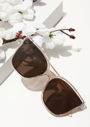 NOT THE USUALS TEA BROWN CATEYE SUNGLASSES