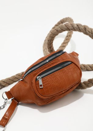 DELICATE CHOICES BROWN SLING BAG