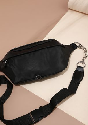 AROUND ALL THE TIME BLACK FANNY BAG