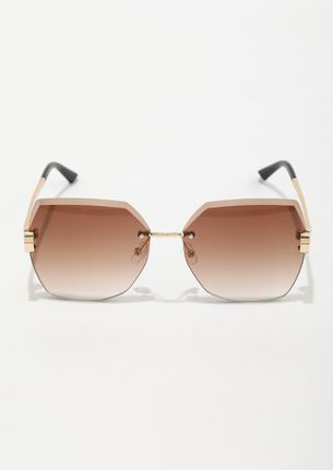 CHASE THE SUNSET GOLD BROWN SUNGLASSES