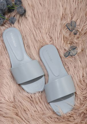 SUCH A DAY TO DAY BLUE FLAT SANDALS