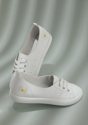 LET THE SUN SHINE ON YOU WHITE TRAINERS