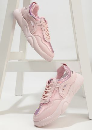 BRIGHT LIGHTS ON PINK TRAINERS