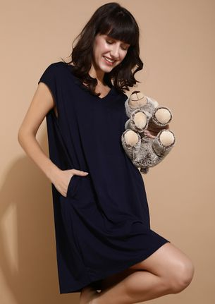 LONG LIVE THE TREND NAVY DRESS