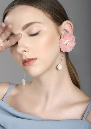 GOSS BABE FLORAL OBESSION PINK EARRINGS