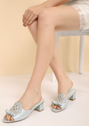 KEEPING UP WITH THE GIRLS BLUE HEELED SANDALS