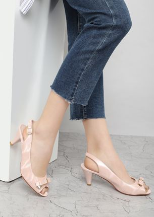DO ABSOLUTELY EVERYTHING PINK HEELED SANDALS