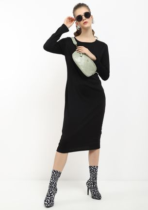 MY LOVER BOY BLACK MIDI DRESS