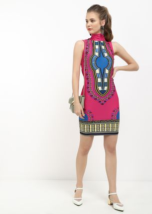 ON A MOROCCAN LAND FUCHSIA TUNIC DRESS