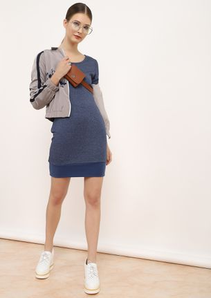 Before Time Blue Bodycon Dress
