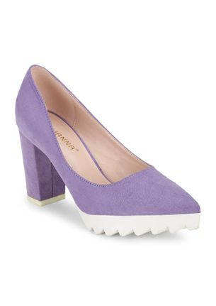 MAKING MOVES PURPLE POINTED PUMPS