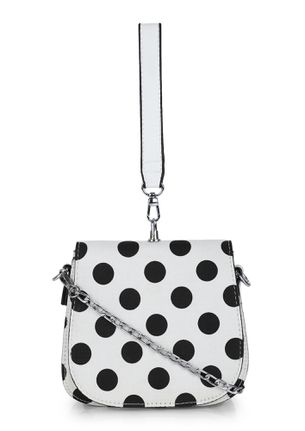 PERFECTLY SPOTTED WHITE SLING BAG