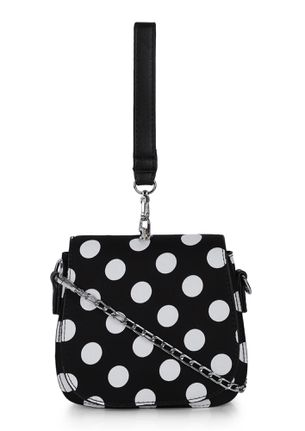 PERFECTLY SPOTTED BLACK SLING BAG