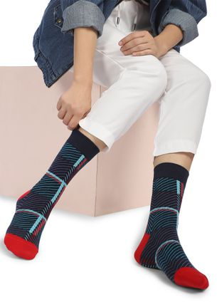 ALL IN THE RIGHT DIRECTION NAVY SOCKS