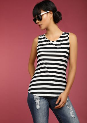 STRAIGHT AND ALWAYS FORWARD BLACK VEST TOP