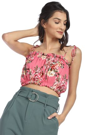 OWN YOUR STORY PINK CROP CAMI TOP