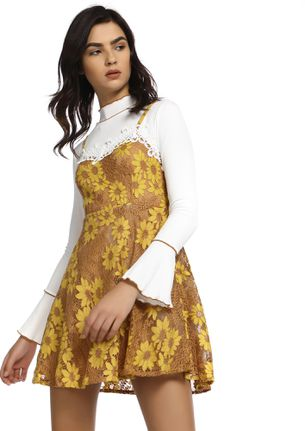 DOUBLE THE DELIGHT IN YELLOW PINAFORE DRESS