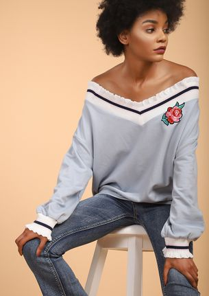 DIRTY ROSE BLUE JUMPER